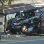 Driver charged after hitting RIPTA bus stop shelter