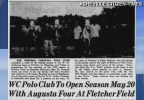 """In 1949 W. H. Anderson was instrumental in bringing polo to Fletcher,"" Richard Wilson, of the Henderson County Genealogical and Historical Society, said. ""The polo field was across the road from the barn where the new charter school is located. The barn was used to house the horses.""  Richard even sent News 13 some old news clippings from the Asheville Citizen-Times to prove it. The first polo match was held in May of 1949 and again in 1950. But that was the year W.H. Anderson died, and polo wasn't played again until 1952 in Hominy Valley. (Photo credit: Asheville Citizen-Times)"