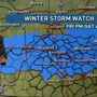 Jim Caldwell's Forecast | Winter Storm Watch for Friday night/Saturday