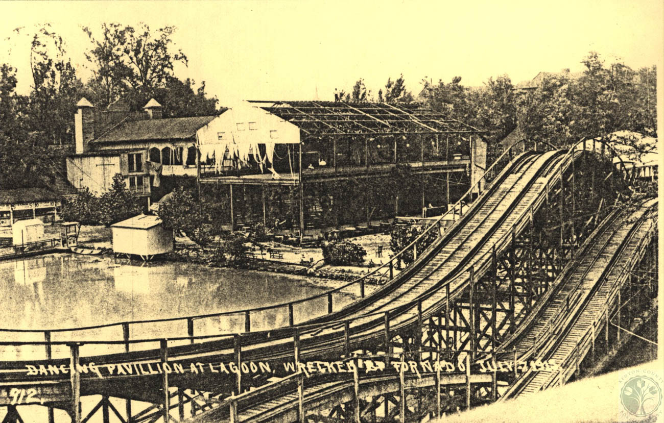 "A series of unfortunate events led to Ludlow Lagoon's ultimate demise: First, a flood in 1913 caused significant damage to the park. That same year, the worst accident in Motordrome history sparked a fire that incited panic and resulted in the deaths of at least 10 people. A catastrophic tornado followed in 1915. / Image courtesy of the ""Faces and Places: Northern Kentucky Photographic Archives"" of the Kenton County Public Library // Published: 6.5.19"