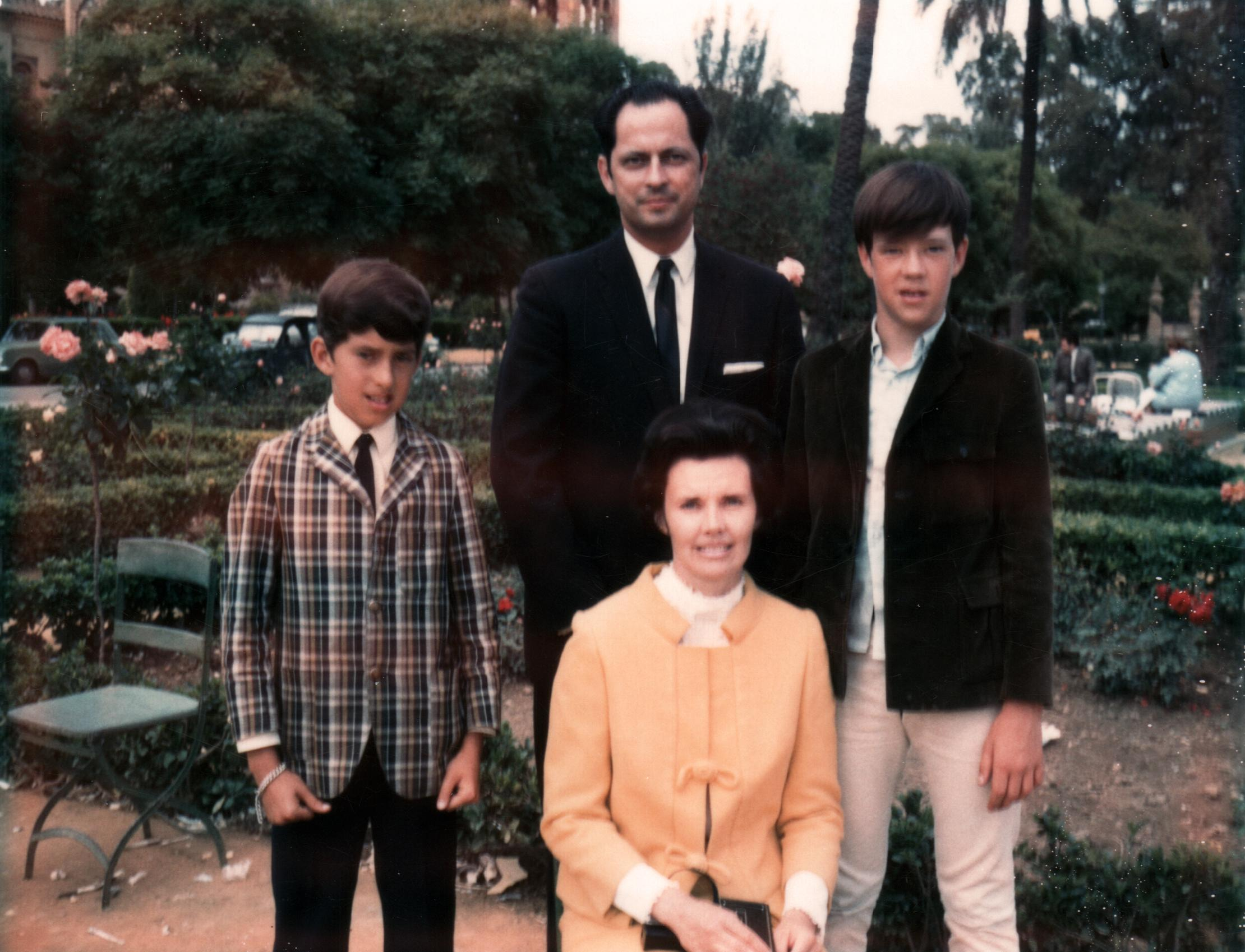 Elder Robert D. Hales with his wife and two sons in 1969 (Photo: LDS church, Copyright Intellectual Reserve, Inc.)