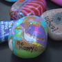 Lamar Elementary students paint rocks with positive messages