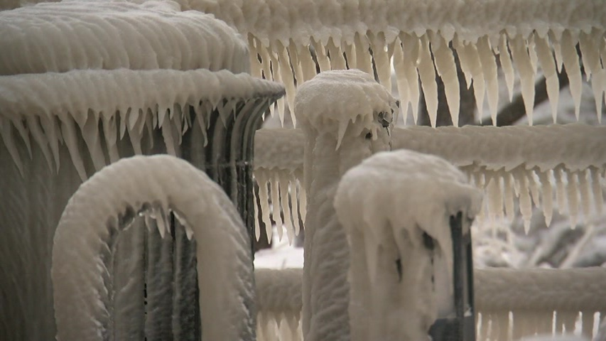 The cold snap back east has led to some amazing icy wonderlands! This is the frozen scene at a park in Hamburg, NY that sits along the shores of Lake Erie. Highs have been in the teens with temperatures near zero overnight.  (Photo courtesy: WKBW-TV via CNN NewsSource)