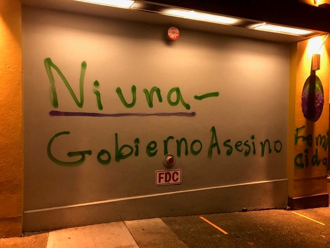 Portland Mexican consulate vandalized. Credit PPB2.JPG