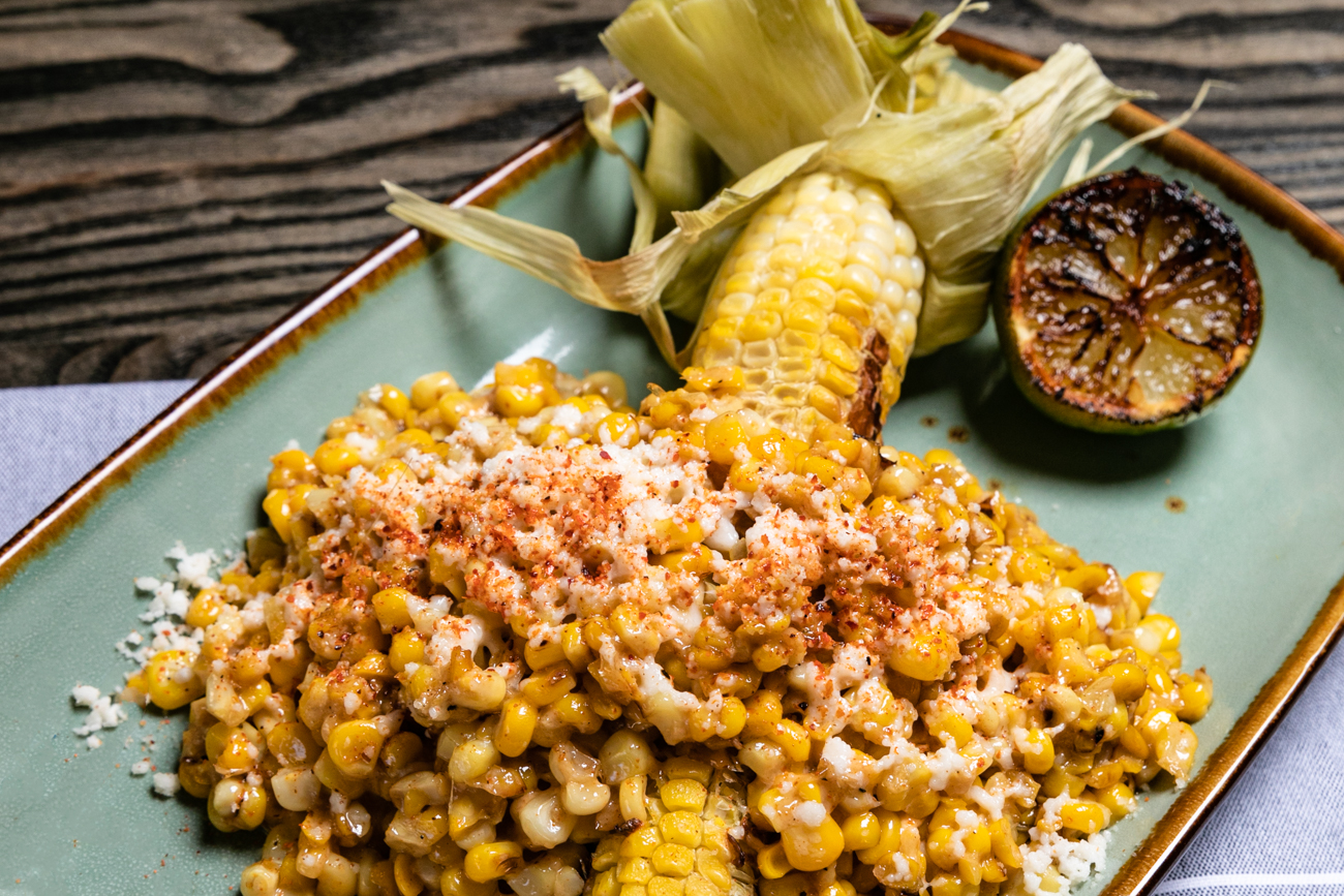 Elote: charred sweet corn chili tajin, aioli, cotija, and lime / Image: Amy Elisabeth Spasoff // Published: 1.5.20