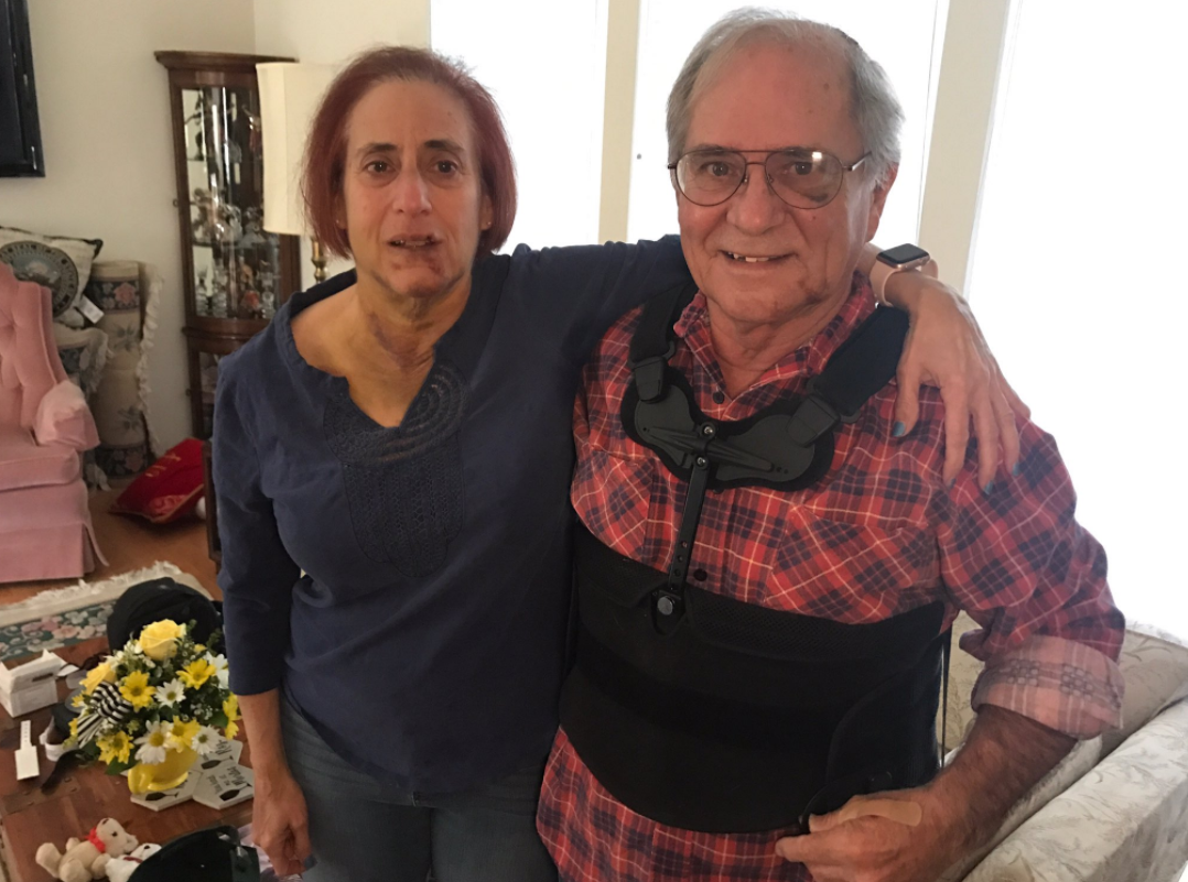 Bob and Carin Bachant are relieved to know police have arrested two out of the three robbers accused of breaking into their home, beating them, and stealing their car. (Kelsey Thomas | KSNV)