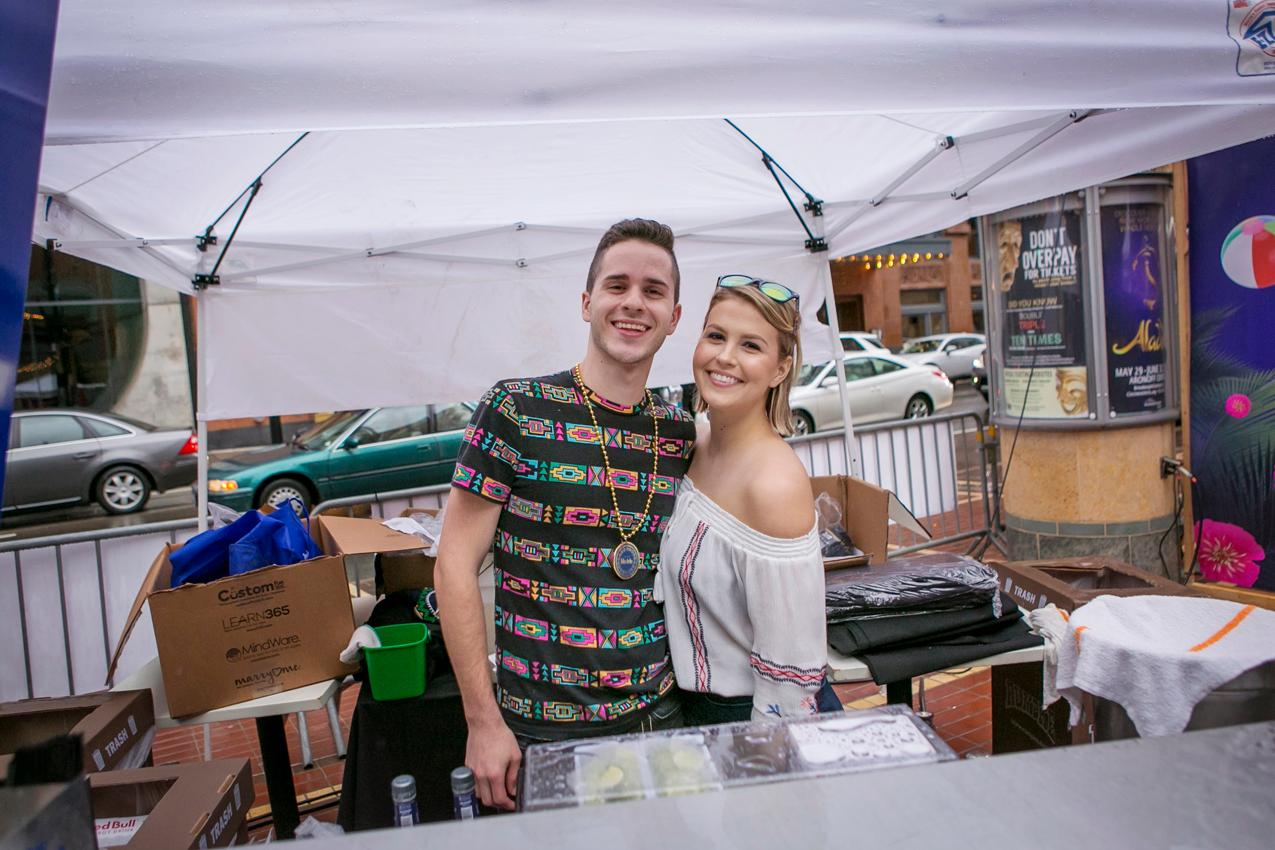 Pictured: Ray Alsip and Sarah Jamison / Event: Cinco de Nada / Image: Mike Bresnen Photography // Published: 6.6.18