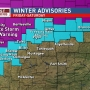 Ice Storm Warnings, Freezing Rain Advisories issued through Saturday