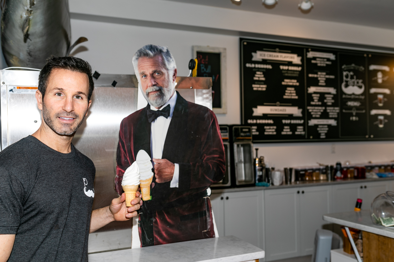 Owner Nick Ganim makes the perfect soft serve ice cream cone. / Image: Amy Elisabeth Spasoff // Published: 10.26.18