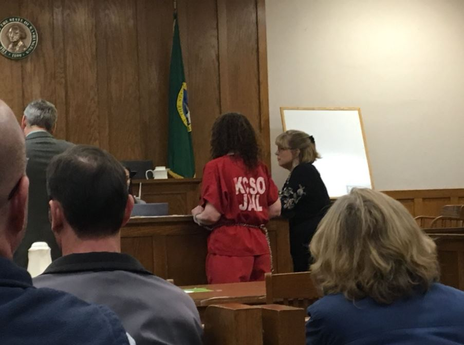 Amber Lynn James was charged Wednesday with second-degree murder and ordered held on $1 million bail. (Photo: KOMO News)<p></p>