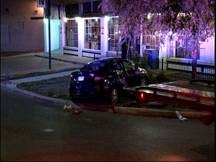 Driver in hospital after vehicle goes airborne at Blanco and Fulton (Photo: SBG San Antonio)