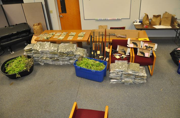 7 search warrants served as result of investigation of marijuana indoor grow operation (Courtesy: TCSU)