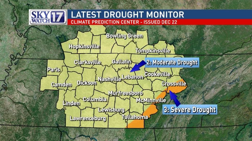 Latest drought monitor shows much of midstate in moderate drought | WZTV