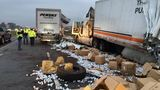 Crash spills K-Cup cargo all over the Toll Road in South Bend