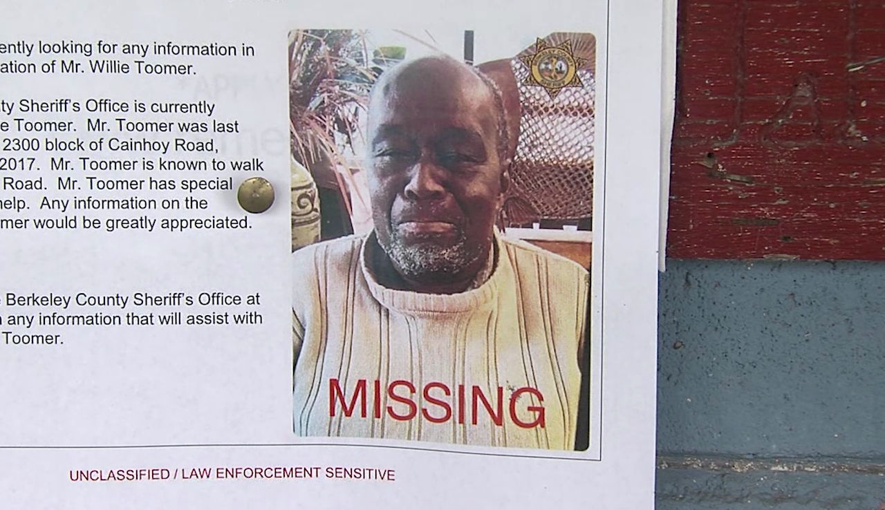 78-year-old Willie Toomer has now been missing for more than a full week. Berkeley County deputies continue to follow leads, while the community that loves him still can't believe he's gone. (Lindsey Maloney/WCIV)