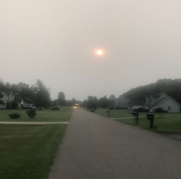 Milky sunshine hangs over Almena Township. (WWMT/Courtesy Pete Spry)