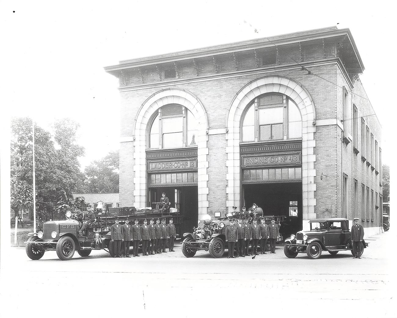 The firehouse was built in the late-1800s and was designed by popular architect Harry Hake. When it originally opened, horses were kept onsite to provide mobility of service. Years later, Ahrens-Fox Co., which was located next door, suggested putting a gas-powered engine on their truck and ultimately revolutionized firefighting. The firehouse is believed to be among the earliest adopters of gas-powered fire brigades. / Image courtesy of Dane Heithaus // Published: 12.25.18