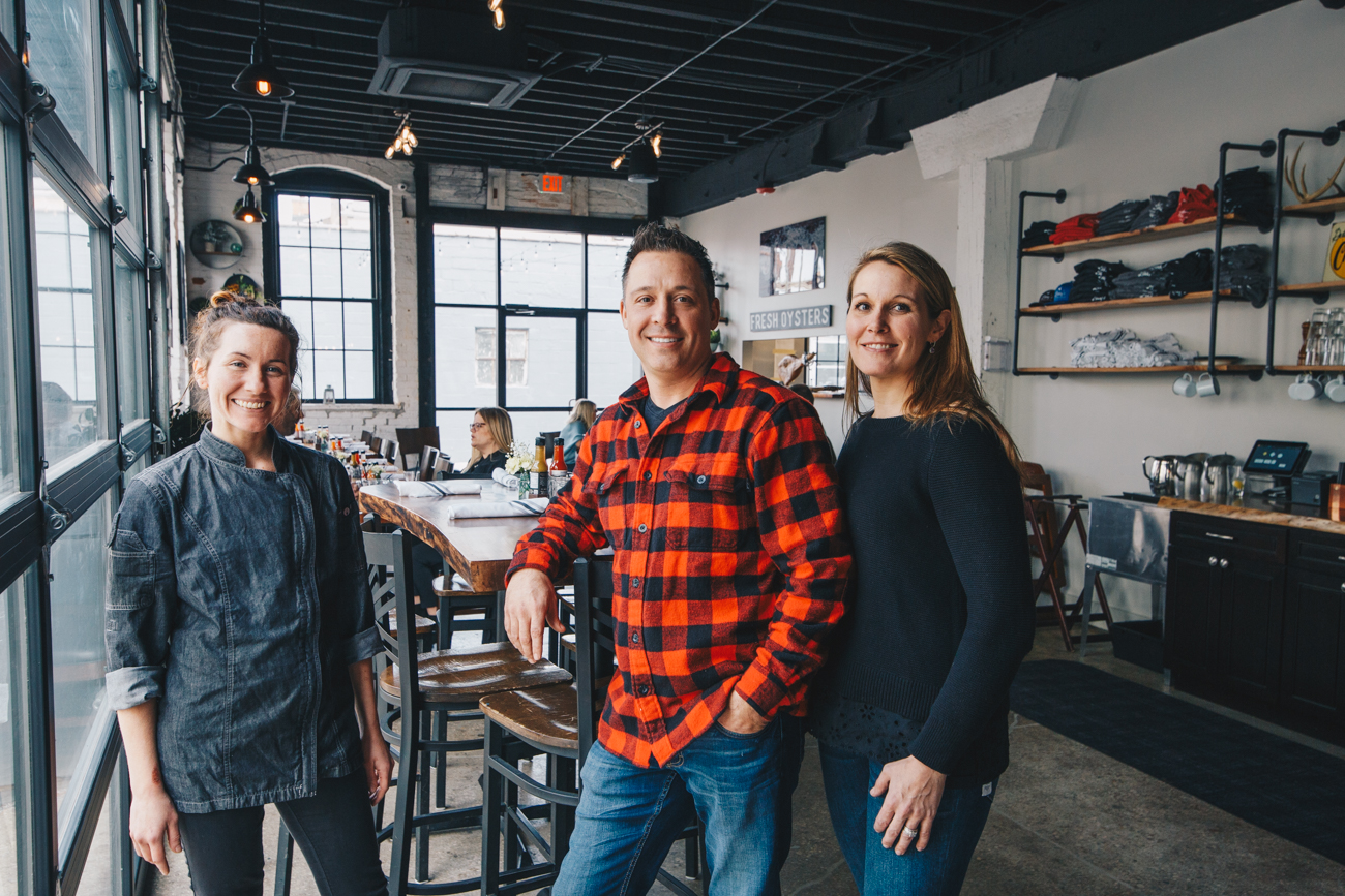 Chef Kayla Curlin with Co-owners and married couple, Brad & Michelle Wainscott / Image: Catherine Viox // Published: 3.24.19