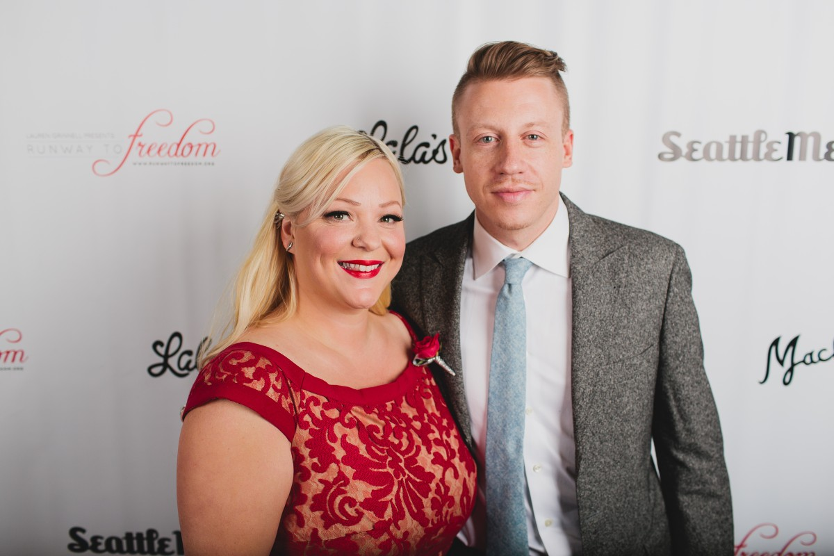 Runway to Freedom Founder, Lauren Grinnell, and celebrity Macklemore. (Image: Kendall Lauren)
