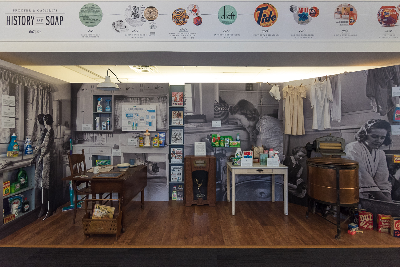 A Procter & Gamble museum showcases the company's history of products. / Image: Phil Armstrong, Cincinnati Refined // Published: 5.7.18