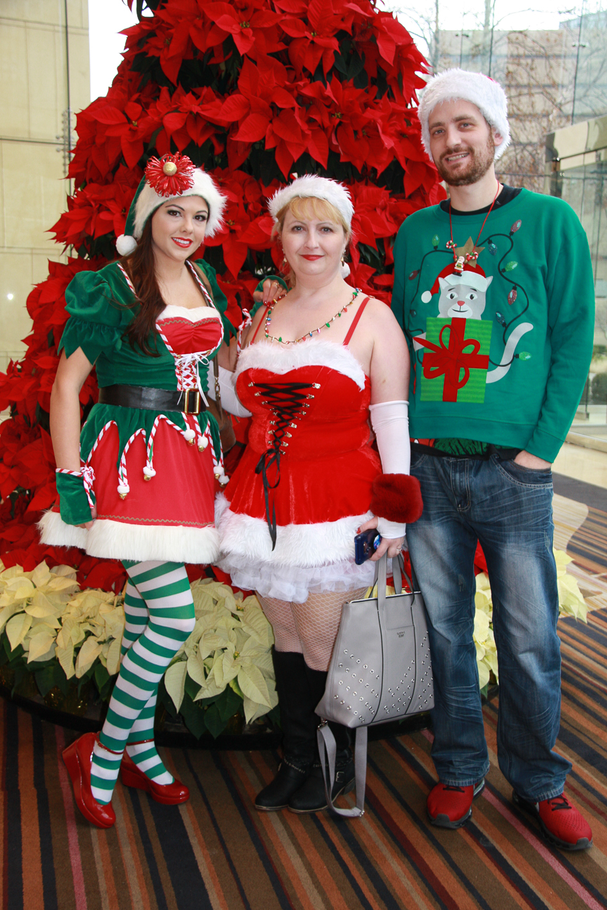 The 12th Annual Cincinnati Santacon was held on Saturday, December 14, 2019. Participants started at JACK Casino and pub crawled their way through Downtown and OTR wearing Christmas outfits. The ticketed event benefitted The Cure Starts Now, an organization dedicated to fighting cancer. / Image: Dr. Richard Sanders // Published: 12.15.19