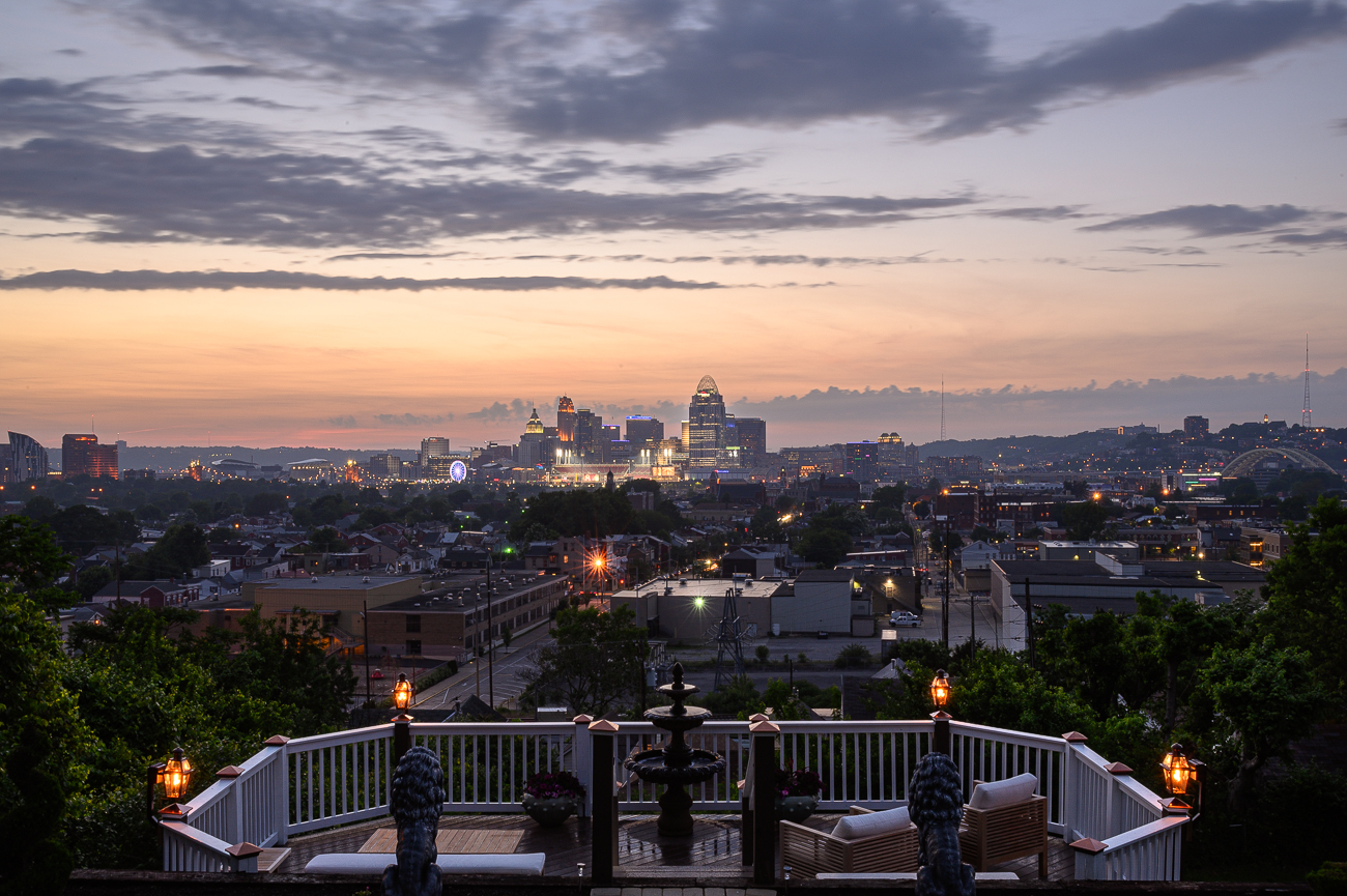 The amazing city view from David Burns' incredible Newport home / Image: Phil Armstrong