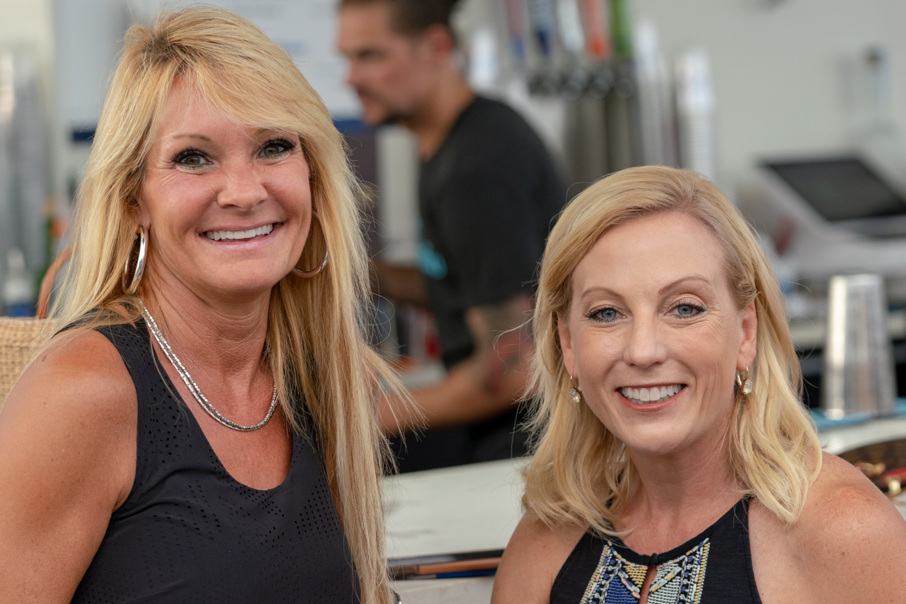 Alicia Gerlinger and Angela Strader enjoying the Don Julio Tequila Bar / Image: Chris Jenco // Published: 8.17.18