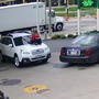 Video: Woman jumps on hood to stop car thief