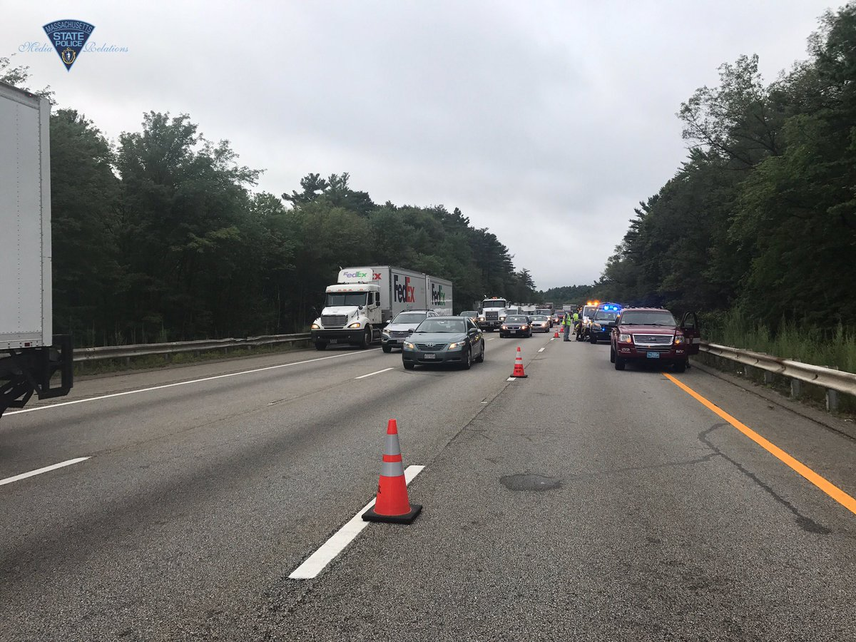 Massachusetts State Police said at least one person was killed in a wrong-way crash early Friday morning on Interstate 495 in Hopkinton, Friday, Aug. 4, 2017. (Massachusetts State Police)