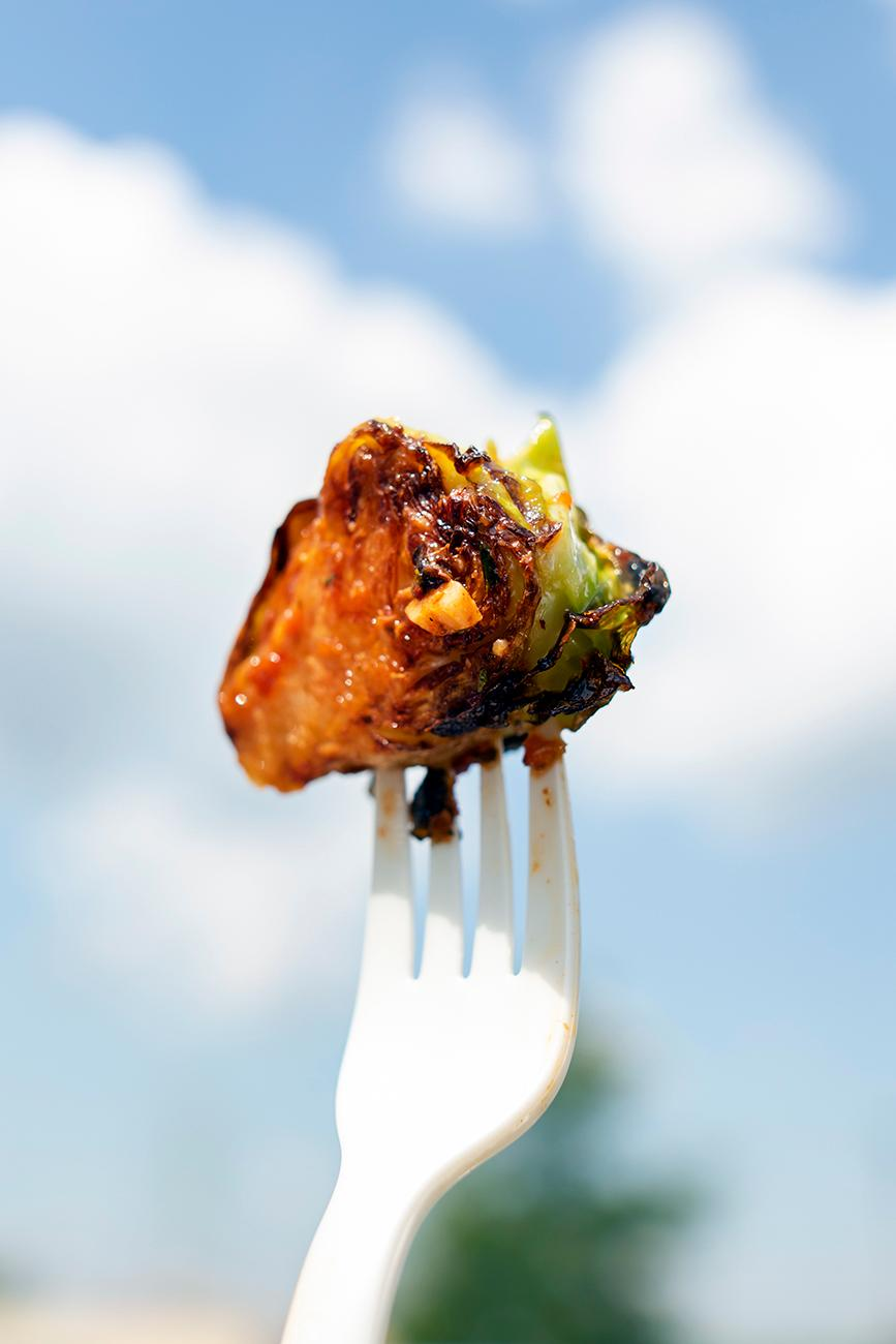 Brussel sprouts with chili paste and rice vinegar / Image: Allison McAdams // Published: 8.12.19