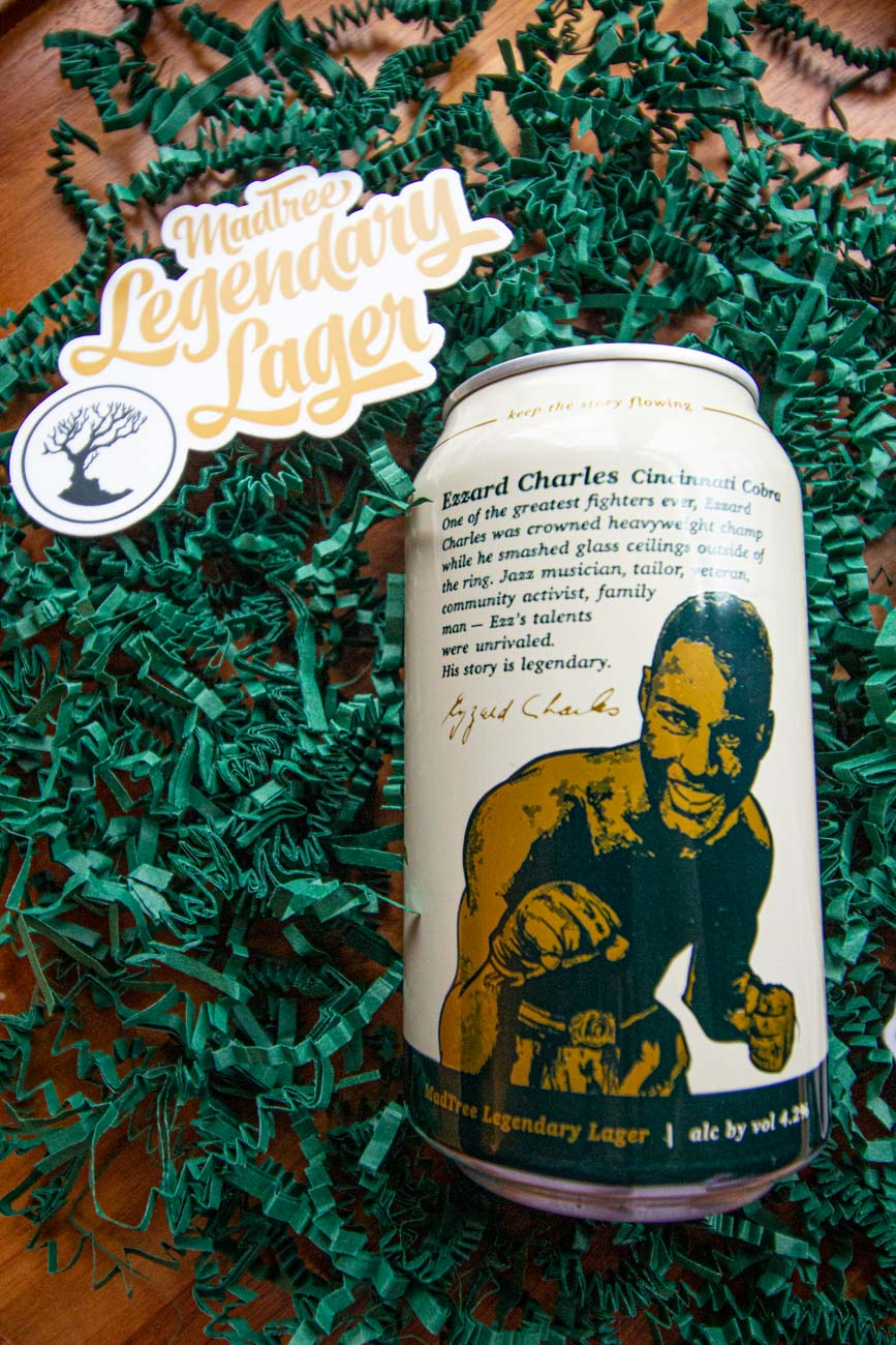 The hope behind the series is to connect people over the shared stories of the past. The can itself literally tells the story of Ezzard Charles on the back, outlining his achievements and the mark he left on the world. Other legends that will star in the series will feature written tributes of their own, as well. / Image: Katie Robinson, Cincinnati Refined // Published: 2.27.21