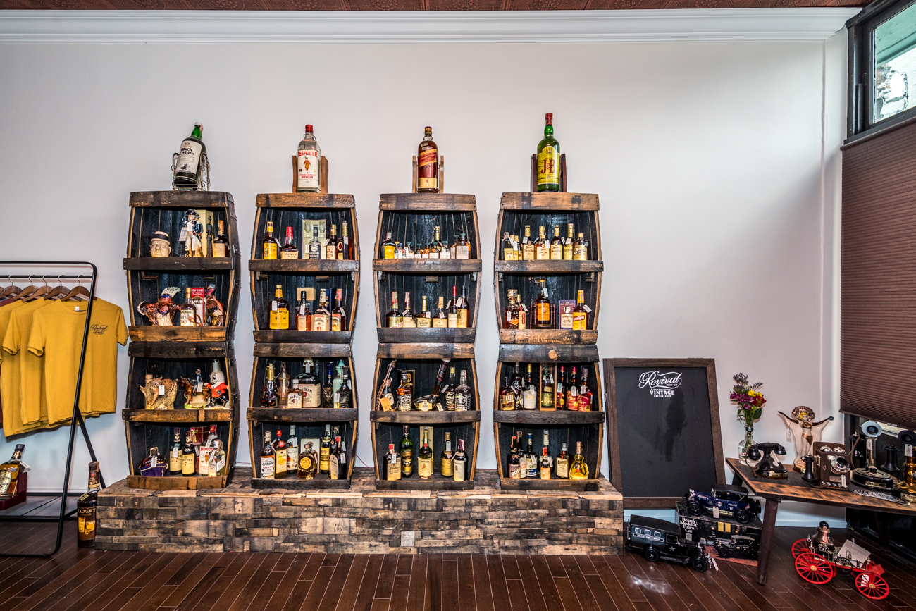 If you or an older relative happen to have an antique bottle of booze lying around that they're willing to part with, consider reaching out to the Revival team at (859) 479-2676. They're always on the lookout to add to their collection. / Image: Catherine Viox // Published: 8.26.20
