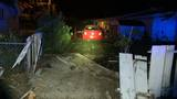 A woman crashes her car into a backyard; Now arrested for DUI