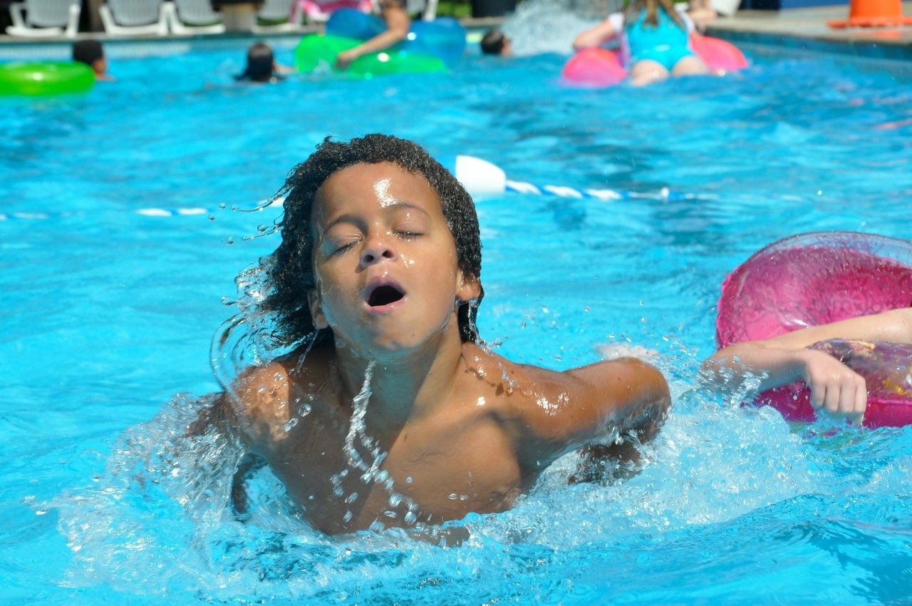 A member enjoys the pool at the Twyckenham  Hills Community Club. // Photo provided