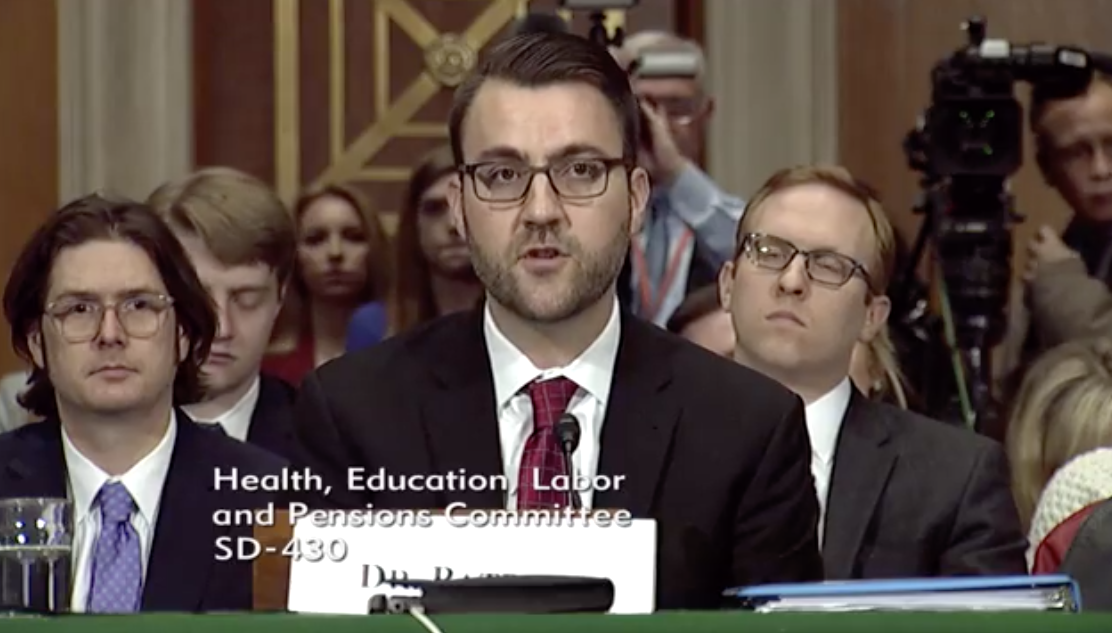 Stephen W. Patrick, M.D., Assistant Professor Of Pediatrics And Health Policy, Division Of Neonatology, Vanderbilt University Medical Center /Photo: Senate Committee on Health, Education, Labor and Pensions<p></p>