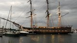 RI's tall ship Oliver Hazard Perry grounds in Newport Harbor