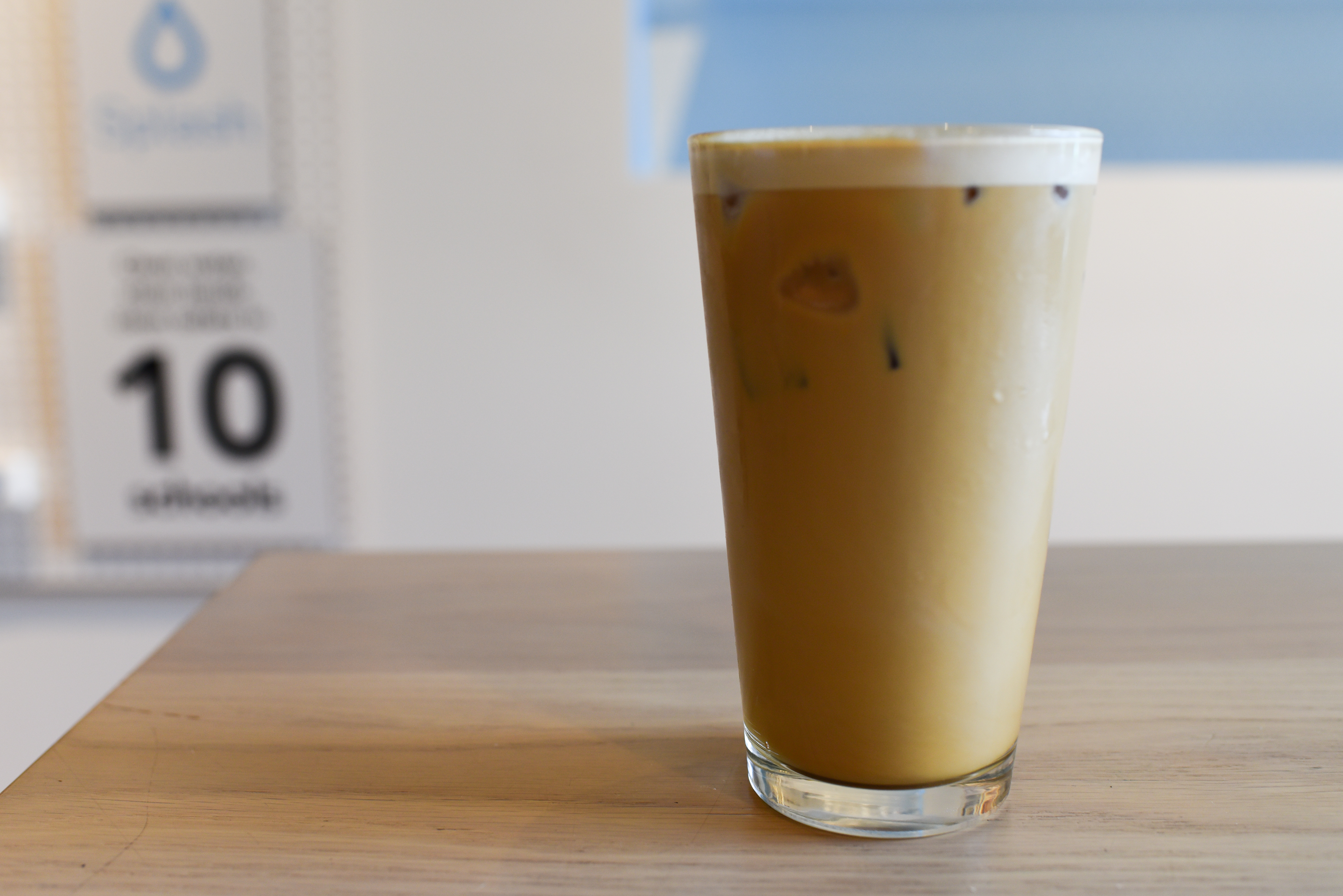 Miir in Fremont wins top points for their delicious nitro cold brew which comes either black or with cream and sugar. The creamy cup is easy to sip and is easily a drink one could enjoy all day long. Served in a pint glass, Miir's Nitro Cold Brew is the best in town. (Image: Rebecca Mongrain/Seattle Refined)