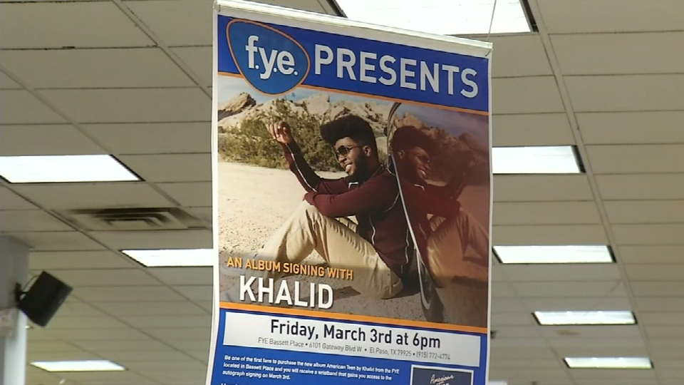 "Khalid released his first album ""American Teen"" on March 3. He held an album signing event at Bassett Place mall where dozens stood in line for a chance to meet the singer-songwriter who calls El Paso home. (KFOX14/CBS4)"