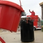 Man camps in giant kettle until Salvation Army reaches goal