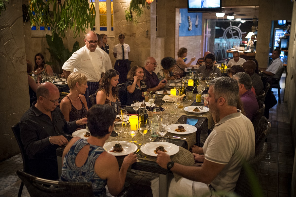 To celebrate the October release of his third cookbook, James Beard Award-winning Chef Guillermo Pernot will be guiding travelers through a 15-day, 14-night cruise around Cuba. Keep scrolling for a look at his past 15 trips to the island. (Image: Courtesy Cuba Libre Restaurant and Rum Bar)