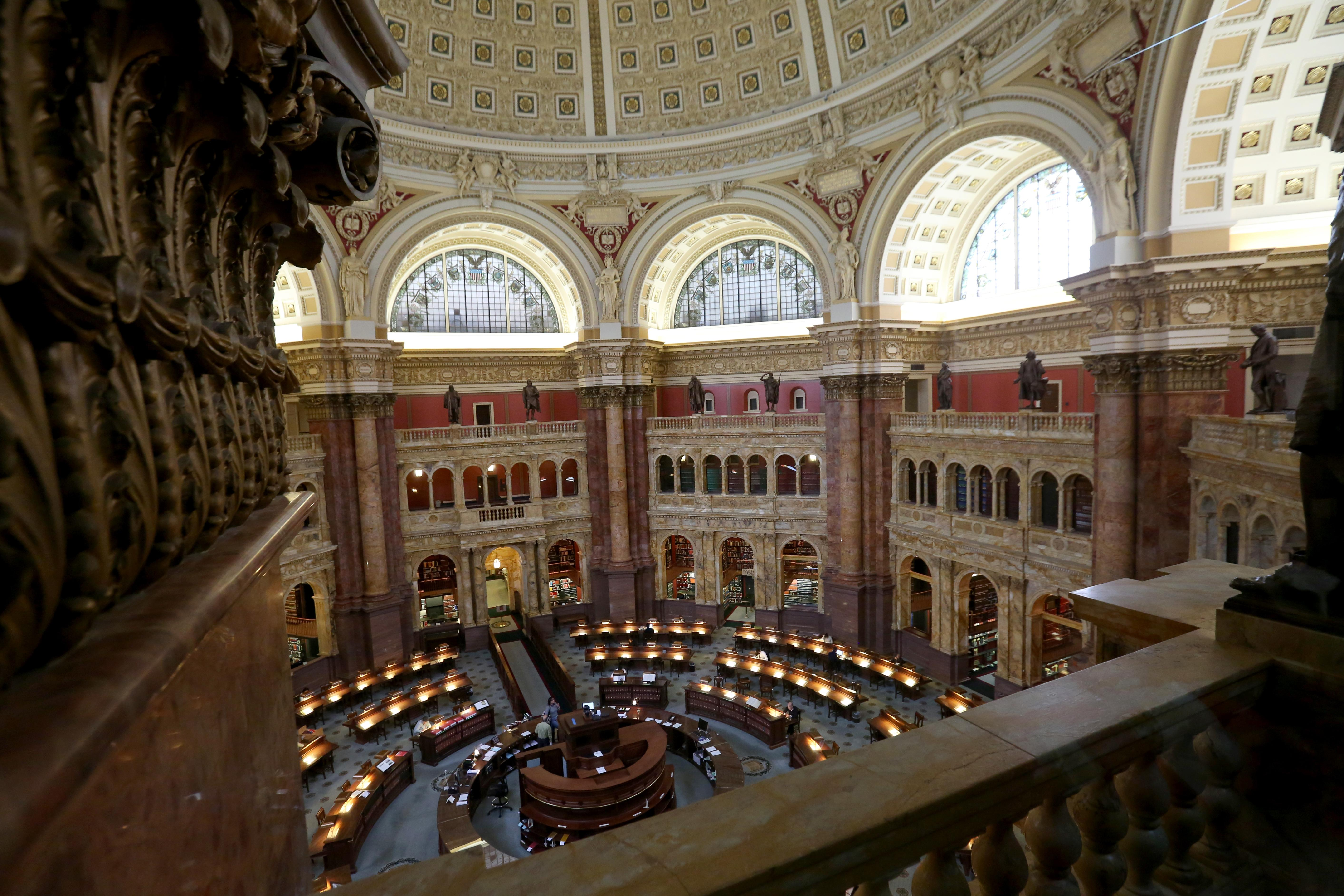 You need a reader card to access the Library of Congress' reading room, but it's a fairly painless process and completely worth it. If you can manage to stop looking at the incredible architecture, the reading room is actually a quiet spot to dive into  a book - maybe take a peak at Thomas Jefferson's library for some inspiration while you're there! (Amanda Andrade-Rhoades/DC Refined)
