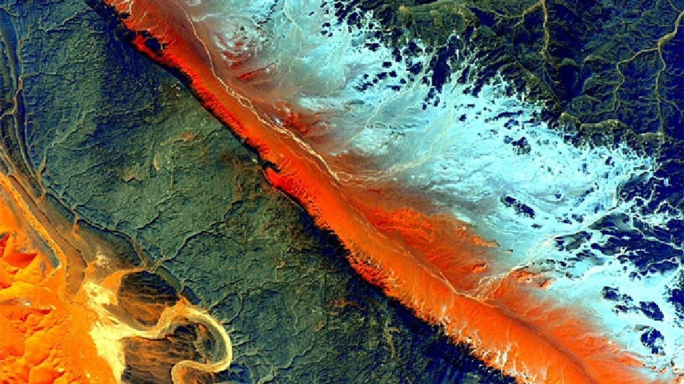 Pics from space: Earth's dramatic landscapes become works of art