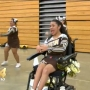 Austin High School cheerleader who's wheelchair bound shows true school spirit