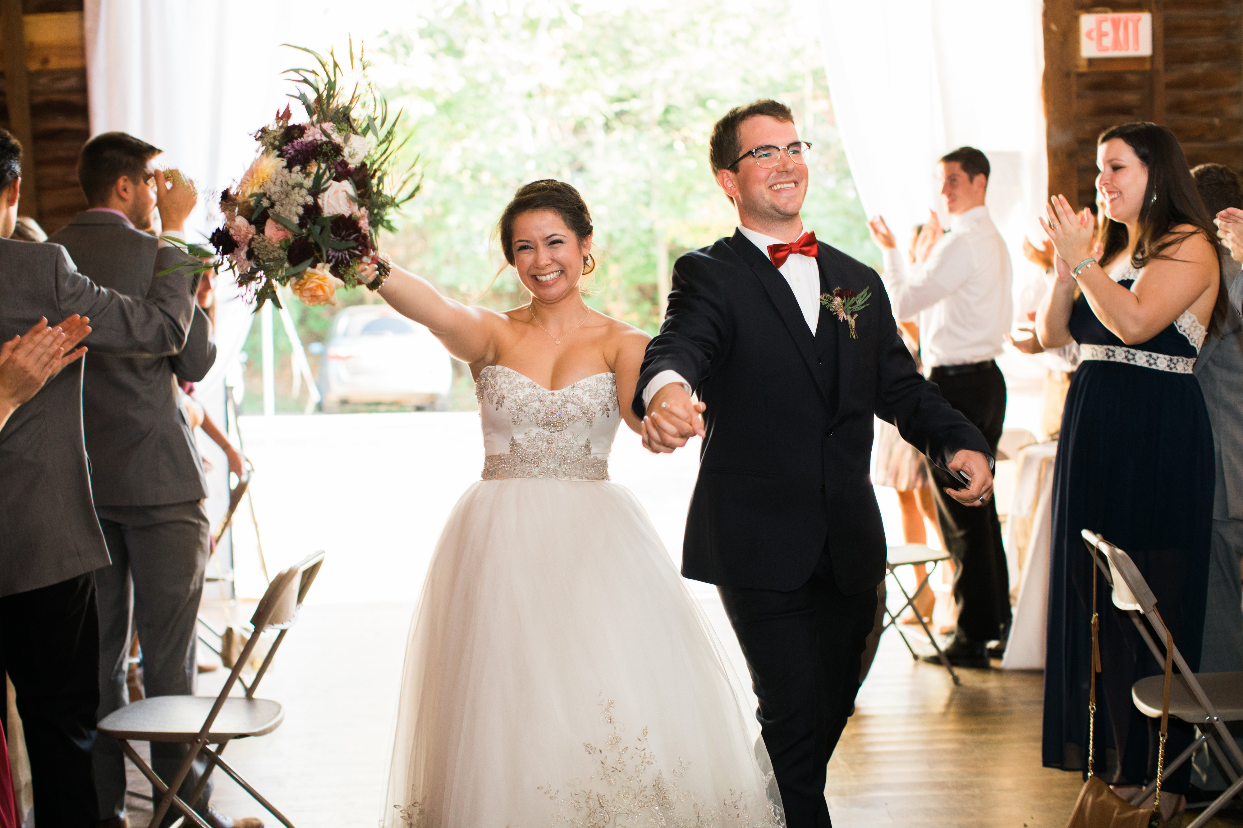 Robbie & Loucita's Wedding Day // Location: Culture Museum in Staunton, Virginia // Florist: Harmony Harvest Farm // Dress: Sealed with a Kiss in Charlottesville, Virginia // Photographer:  Miscellaneous Media Photography // (Photo credit: Miscellaneous Media Photography)